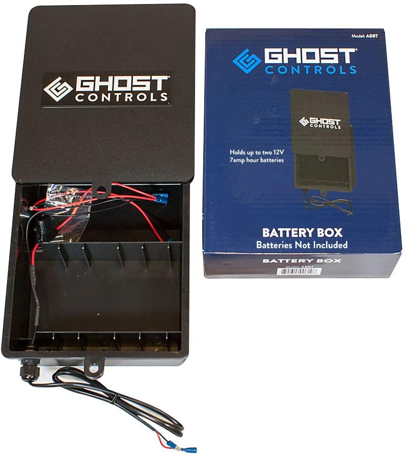Ghost Controls ABBT Battery Box Kit for Vehicular Swing Gates or Deer Feeders Kit with 0 Batteries