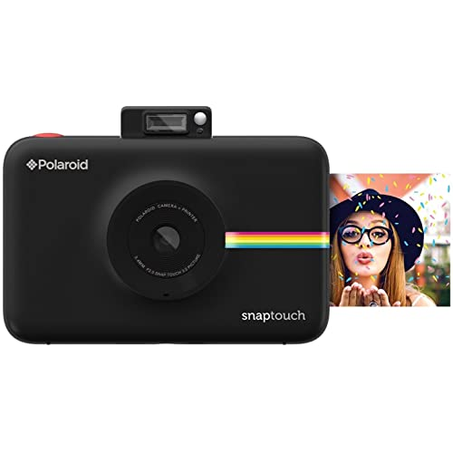 Polaroid Snap Touch Instant Print Digital Camera With LCD Display with Zink Zero Ink Printing Technology (Black)