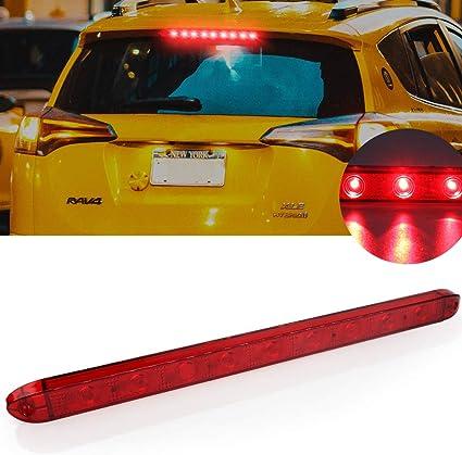 Luz de freno adicional,9 LED luz de freno trasero tercera auto high mount luz de freno roja 24V impermeable para cami/ón coche caravana camioneta barco RV