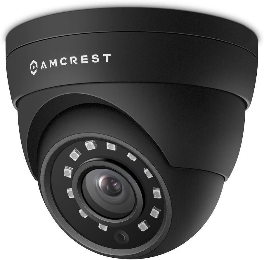 Amcrest UltraHD 4MP HD-Analog Dome Outdoor Security Camera, 4MP 2688x1520, 65ft Night Vision, IP67 Weatherproof Metal Housing, 2.8mm Lens, 99.7° Viewing Angle, 4MP @15fps, Black (AMC4MDM28-B)
