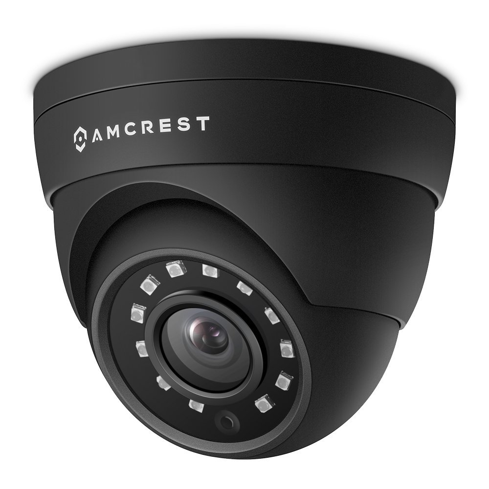 Amcrest UltraHD 4MP HD-Analog 1520P 2688TVL Dome Outdoor Security Camera, 4MP 2688x1520, 65ft Night Vision, Metal Housing, 2.8mm Lens, 99.7° Viewing Angle, Black (AMC4MDM28-B) by Amcrest