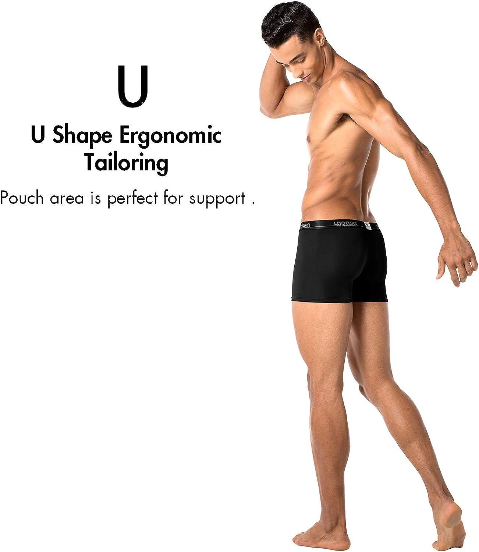 LAPASA Mens Modal Boxer Briefs Bulge Enhancing Pouch Trunk Underwear No Fly 4 Pack M02