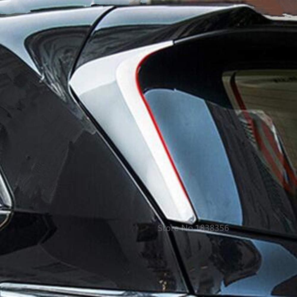 XLTWKK Auto Heckscheibe Spoiler Seitenfl/ügel Dreieck Verkleidung Abdeckung Garnitur Zubeh/ör f/ür Jeep Renegade 2015-2017