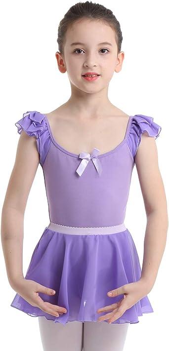 IEFIEL Maillot de Danza Ballet para Niña (2-12 Años) Maillot con ...