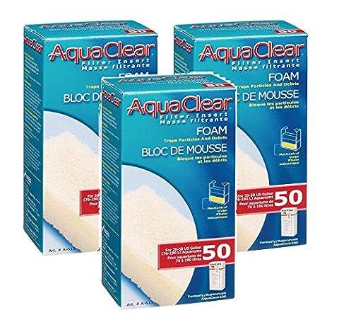 (3 Pack) AquaClear 50 Foam Filter