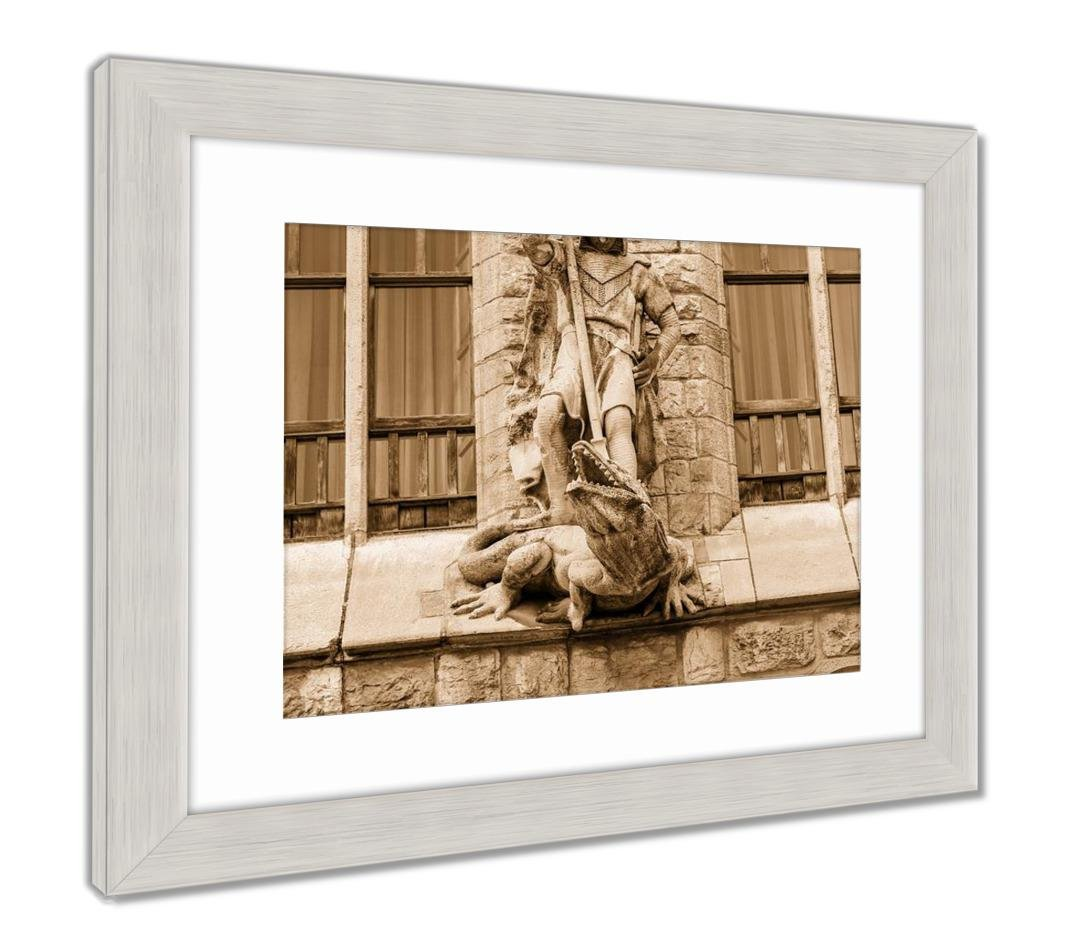 Amazon.com: Ashley Framed Prints Botines Palace in Leon Castilla Y Leon, Wall Art Home Decoration, Sepia, 30x26 (Frame Size), Silver Frame, ...