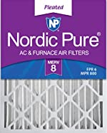 Nordic Pure 16x25x4 MERV 8 Pleated AC Furnace Air Filters 2