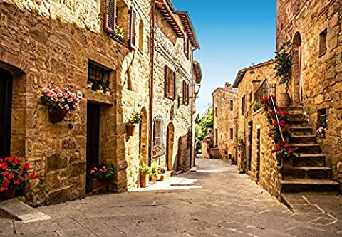 Wall Mural, Photo Wallpaper TUSCANY VILLAGE 12'x8'4