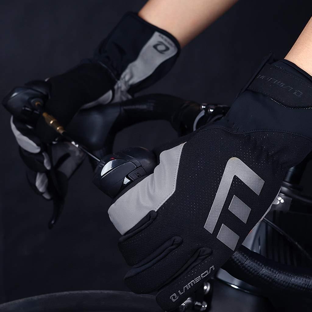 HU Silikon-Palm-Pad-Handschuhe können Touchscreen-winddichter Riding Stoßdämpfer Sein. Warm Riding Touchscreen-winddichter Full Finger Gloves 19e757