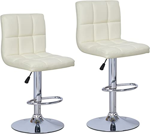 Chic Modern Adjustable Synthetic Leather Swivel Bar Stool