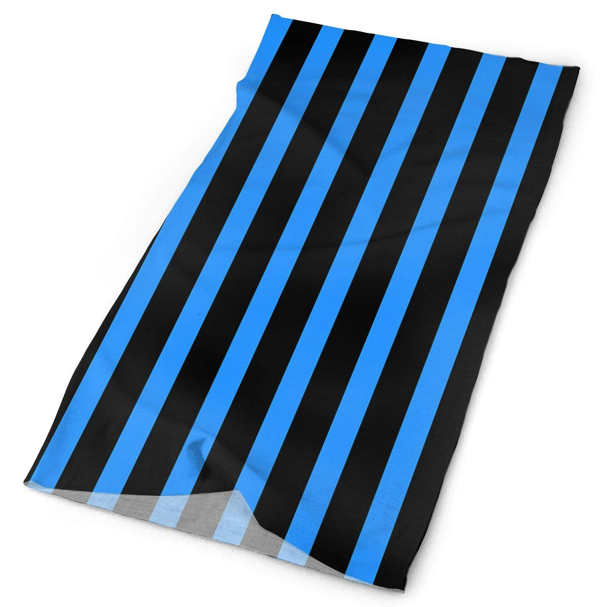Owen Pullman Multifunctional Headwear Blue Line Ligth Head Wrap Elastic Turban Sport Headband Outdoor Sweatband