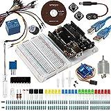 Für Arduino UNO R3, Smraza Arduino Starter Kit mit Breadboard Holder, DC Motor und Detailed Tutorial Kompatible mit Arduino Uno Mega2560 Mega328 Nano v3