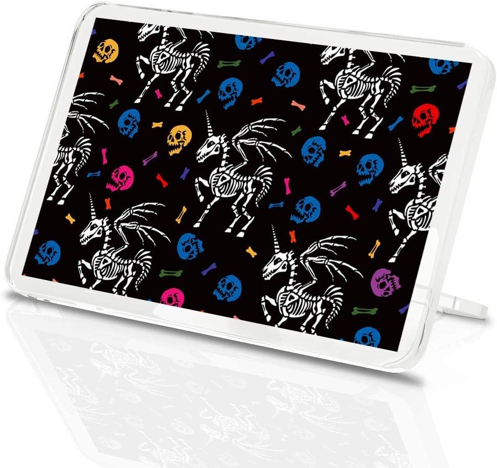 Destination Vinyl ltd - Imán clásico con soporte, diseño de esqueleto de Pegasus unicornio caballo cráneo huesos #46301