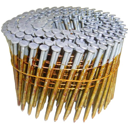 Hitachi 12707 Hitachi 12707 3-in x.120 Ring Hot Dipped Galvanized (16°) Wire Coil Framing Nails