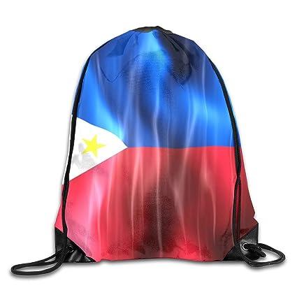 c35d840eca6c Amazon.com: KIENGG Philippines Wave Flag Unisex Drawstring Beam Port ...