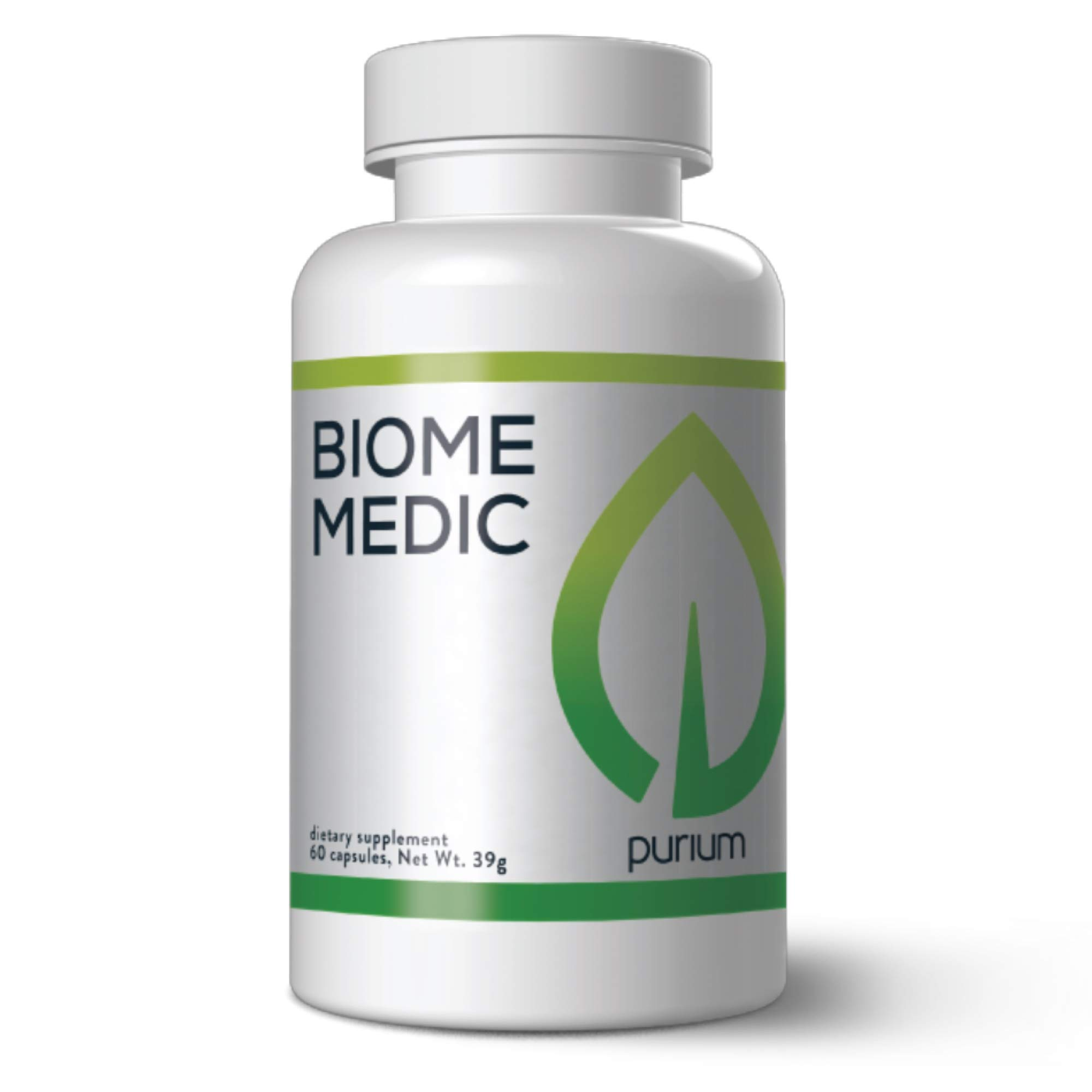Purium Biome Medic - 60 Vegan Capsules - Gut Health Support Supplement, Removes GMO Toxins, Supports Good Bacteria, Repairs Microbiome - Vegetarian, Gluten Free - 60 Servings by Purium