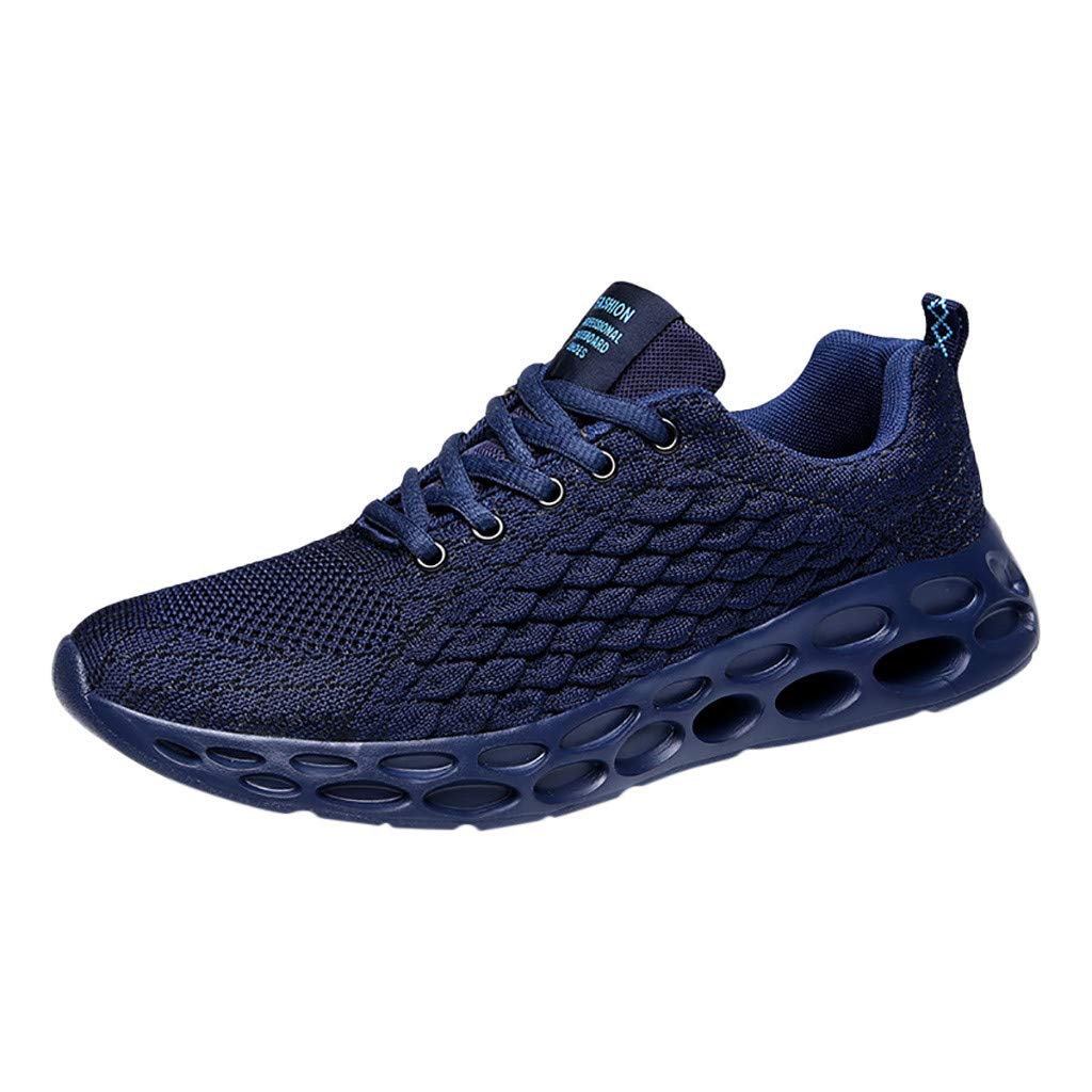 Londony ✡ Men's Lightweight Athletic Running Shoes Breathable Sport Air Fitness Gym Jogging Sneakers Air Cushion Sneaker Blue