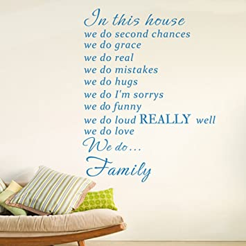 Lovely In This House We Do Real Wall Decal Home Decor Sticker Art Vinyl Poster  Print Sign Design