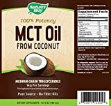 Natures Way 100% Potency Pure Source MCT Oil From Coconut- Certified Paleo, Certified Vegan- Non-GMO Project Verified, Vegetarian, Gluten-free, Flavorless, No Filler Oils, Hexane-free- 16 Fluid Ounce