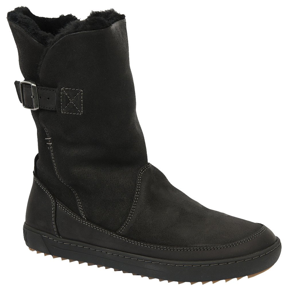 Birkenstock Women's Woodbury Shearling Lined Boot B00SK57HWG 37 M EU|Black Nubuck
