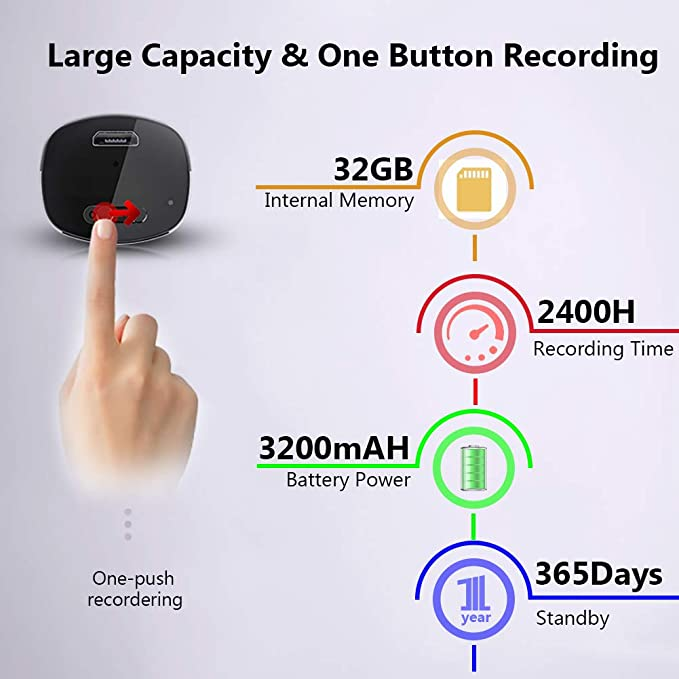 Mini Spionage Diktiergerät 32gb Professionelles Elektronik