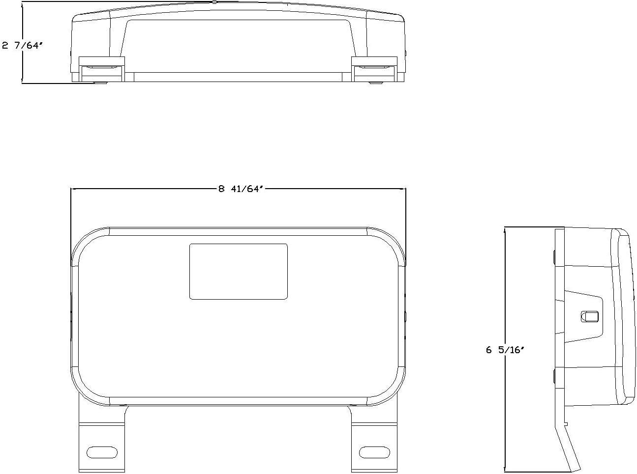 Lumitronics RV Surface Mount Tail Light Stop//Turn//Tail Light White
