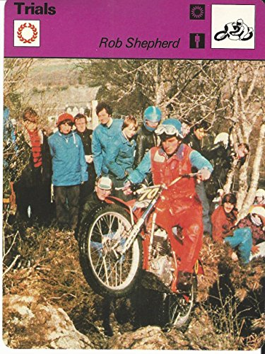 1977-79 Sportscaster Card, 73.14 Motorcycle Trials, Rob Shepherd