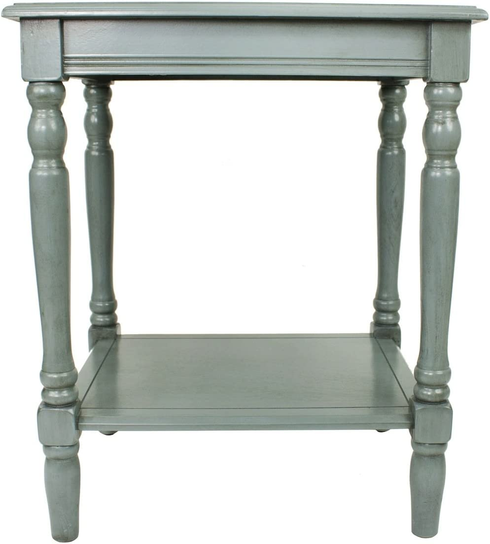 Décor Therapy FR1576 Simplify End Table, Fits Most Casual Décor, Blue Gray