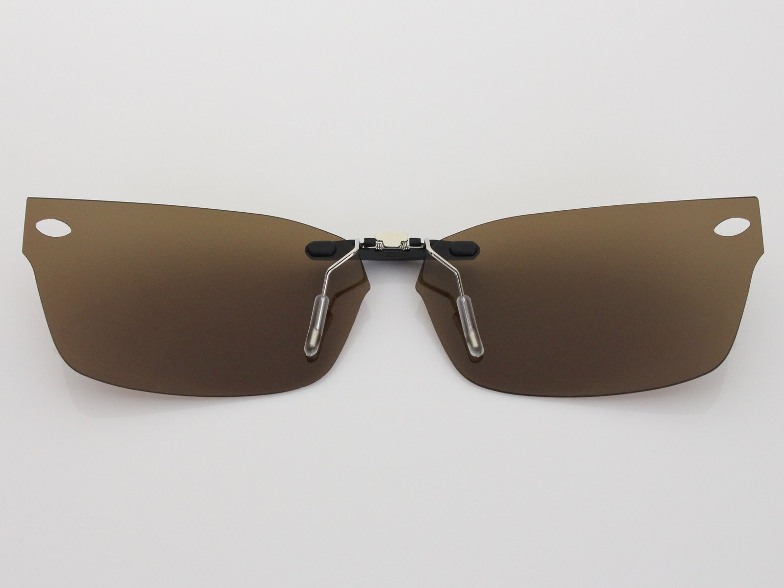Custom Fit Polarized CLIP-ON Sunglasses For Ray-Ban RB5150 48X19 Brown by COODY (Image #3)