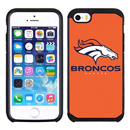 extured Case with Team Color Design for Apple iPhone SE / 5s / 5 - NFL Licensed Denver Broncos ()