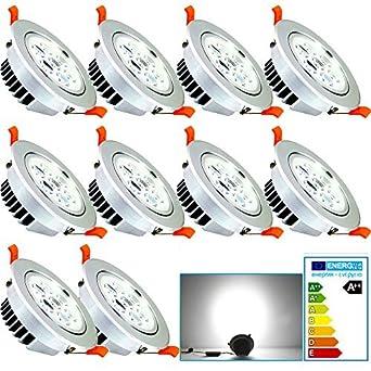 VINGO® 10 Stück LED 7W Einbaustrahler Dimmbar Einbauspots Geringe  Einbautiefe Kaltweiß Einbauleuchten Für Badezimmer 230v