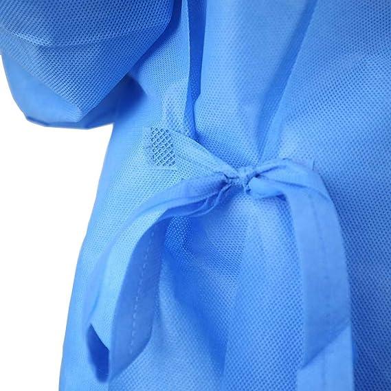 Shulky Multi-Schutzanzug,Unisex Protective Isolation Clothing Wiederverwendbar Wasserdicht Antibeschlag Staubfrei Schutzkleidung,Labor Chirurgische Sch/ürze