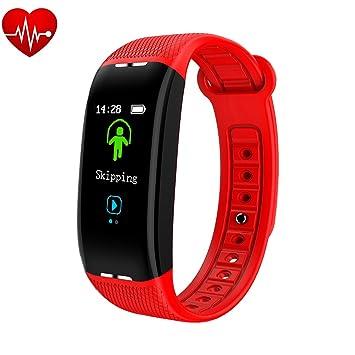 OOLIFENG Fitness Tracker Con Actividad Pulsera Caloría Mostrador Relojes Reloj Inteligente Para Niños Mujeres Hombres,Red: Amazon.es: Deportes y aire libre