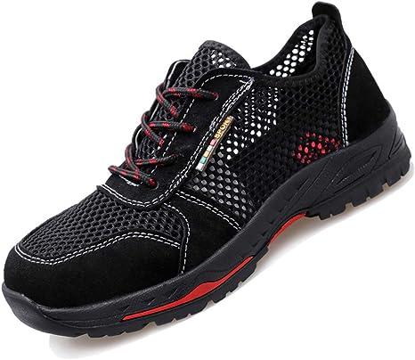 YHHF Ligero Respirable Zapatos de Seguridad de los Hombres