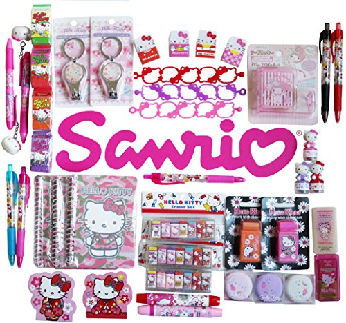 Sanrio Characters Wonderful 12-pc Stationery and Accessory Assorted Set (Hello Kitty Stationery)