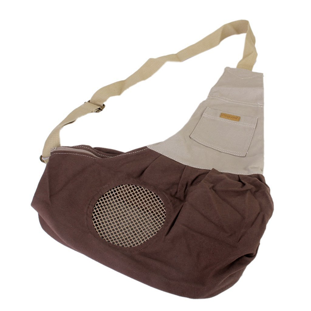 THINKPRICE Pet Sling Carrier Dog Sling Bag Shoulder Carry Bag with Extra Pocket for Cat Dog Puppy Kitty Rabbit Small Animals