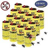 KVMV Fly Catcher Fly Paper Insect Sticky Trap Fly Trap Sticky Fly Ribbon Set of 4 Card,16 PCS