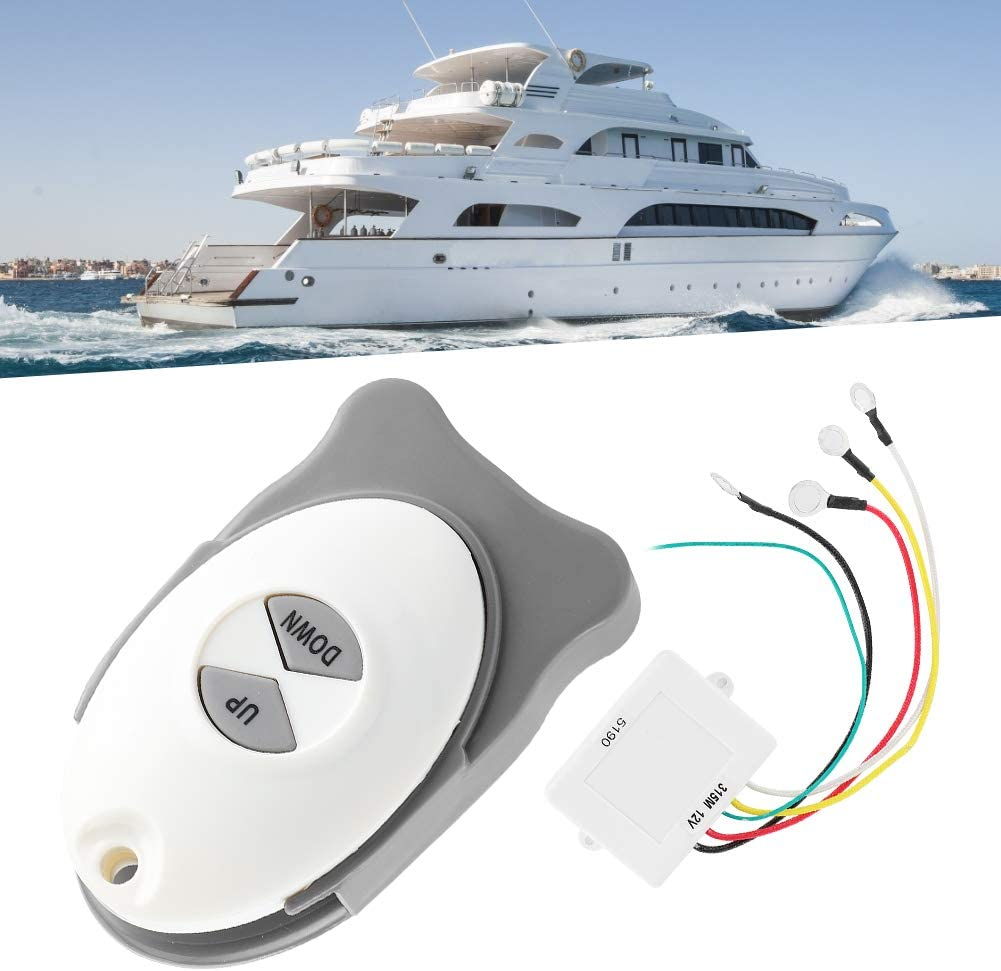 Yctze 12V Anchor Windlass Wireless Switch Receiver Waterproof Sail Trim Controller Marine Boat Accessory