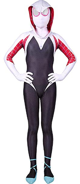 Riekinc Womens Superhero Zentai Suits Halloween Cosplay Costumes 3D Style Audlt/Kids