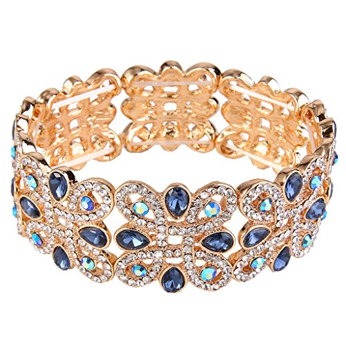 EVER FAITH Women's Crystal Elegant Wedding Knot