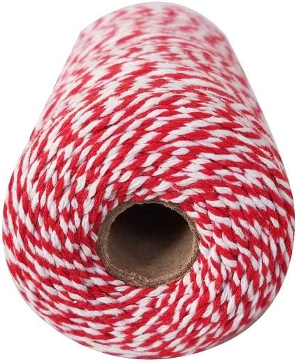 Light Purple and White 656 Feet 200 m Cotton Baker Twine Christmas Gift Wrapping Cotton String Crafts Twine String and Holiday Decorations