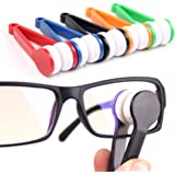 OUYOU 眼鏡拭き メガネブラシ メガネクリーナー 持ち運び便利 可愛い 極細繊維 両面同時 ランダム色 5個セット