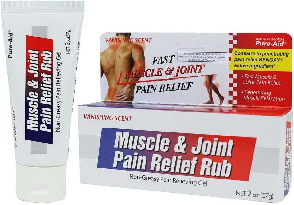 Pure-aid Muscle & Joint Pain Relief Rub 2oz.