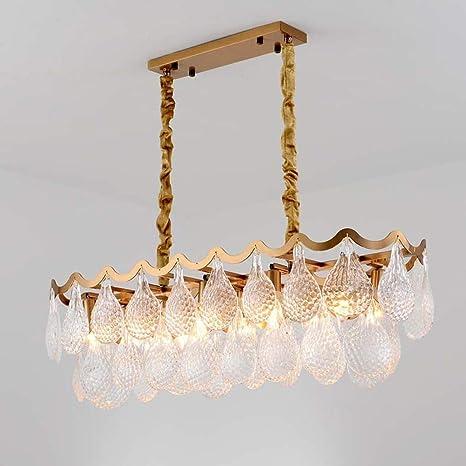 Amazon.com: Lámparas de techo de cristal modernas, luces LED ...