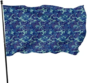 jhin Bandera Decorativa Banderas Tactical Camouflage Camo Army Military Blue Themed Welcome Party Outdoor Outside Decorations Ornament Picks Home Garden Decor 3 X 5 Ft