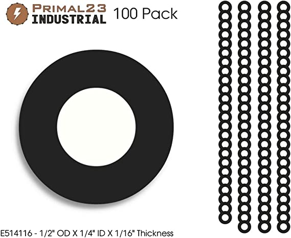 "NEOPRENE RUBBER WASHER 1//8 THK X 1/""OD X 3//8/"" ID 25 PC PACK FREE SHIPPING"