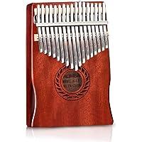 POMAIKAI 17-klawiszowa kalimba, marimba, przenośna, z mahoniowego drewna, mbira, z akcesoriami, dla dzieci i dorosłych…