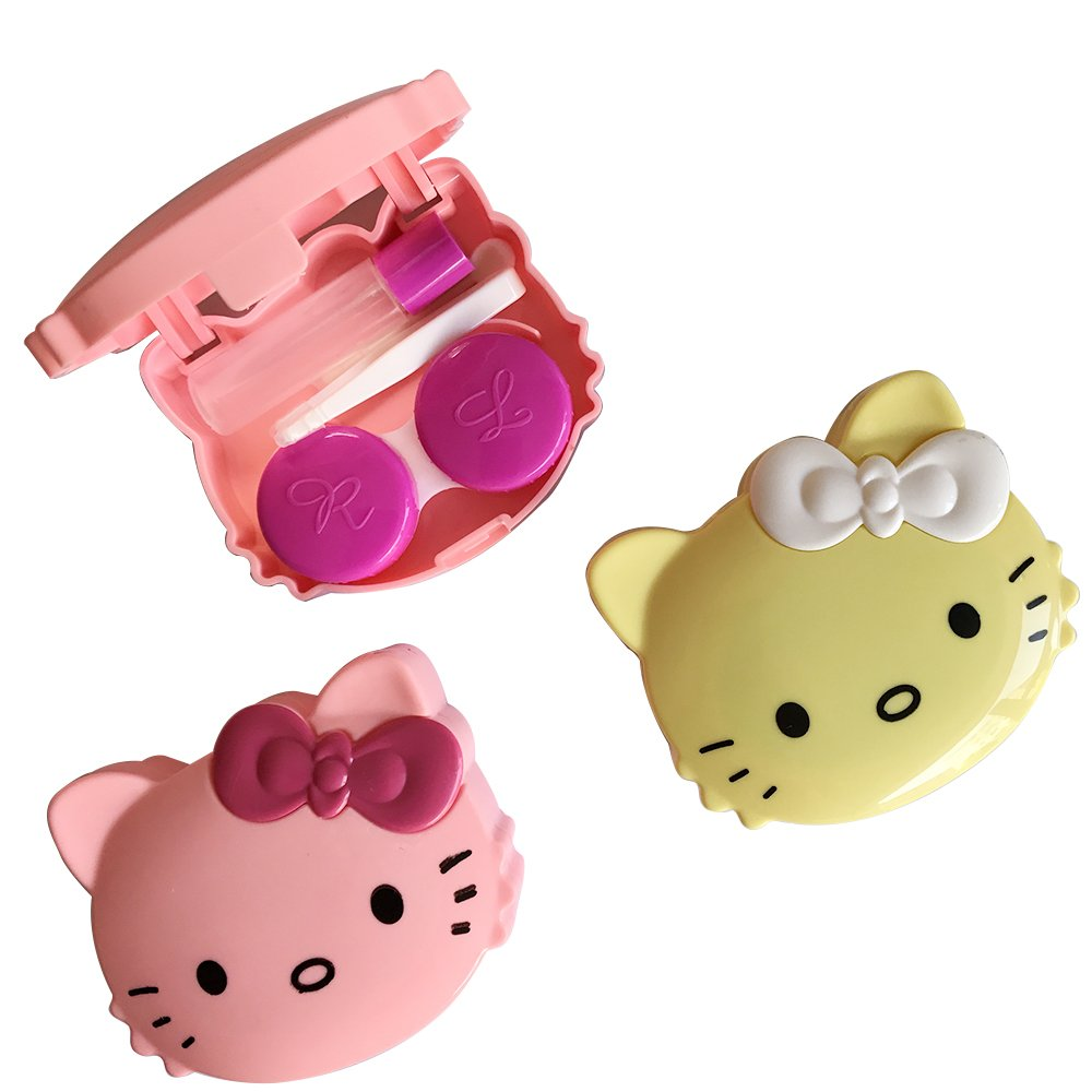 PETMALL 1PCS Cute Girl Contact Lense Case Kitty OFFICE-104