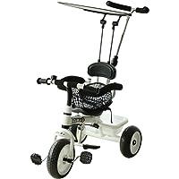 Triciclo para Niños con Capota extraíble y plegable Incluye barra telescópica para los padres Certificado EN71-1-2-3…