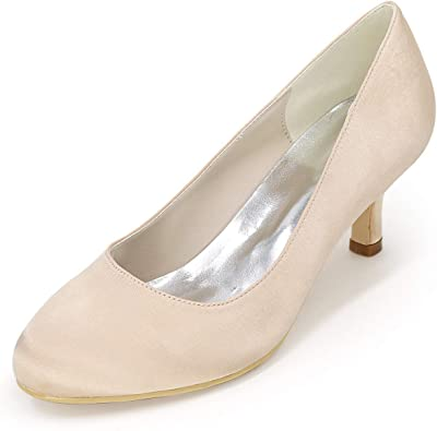 Ladies Diamante Party Size Womens Wedding Bridal Court Shoes Low Kitten Heel New